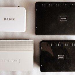 Проводные роутеры и коммутаторы - РОУТЕРЫ    ( D-LINK,  TP-LINK )    ( 4 ШТ. ), 0