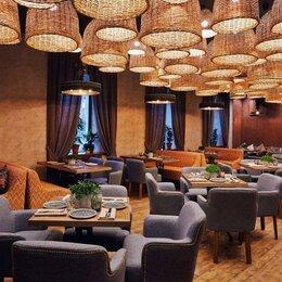 Люстры и потолочные светильники - Люстра плафон плетеный для ресторана, 0