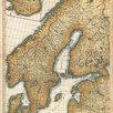 Гравированная кабинетная карта 1758 года России и северных стран S6710 по цене 220000₽ - Гравюры, литографии, карты, фото 2