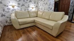 Диваны и кушетки - Угловой кожаный диван, 0