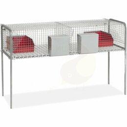 Клетки и домики  - Клетка для кроликов 140 см двухсекционная с…, 0