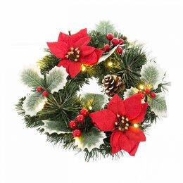 Новогодний декор и аксессуары - Декор настенный с led подсветкой красно-зеленый…, 0