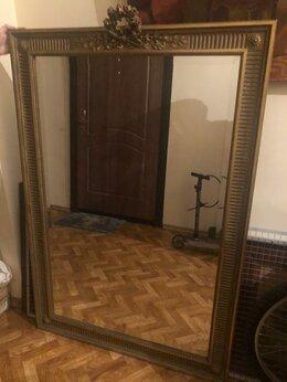 Зеркала - Большое антикварное зеркало в резной раме, 0