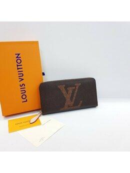 Кошельки - Кошелек Louis Vuitton коричневый кожа + канва…, 0