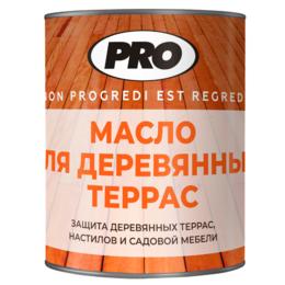 Масла и воск - Масло для деревянных террас PRO Colore 2.5 л , Тёмно-коричневый, 0