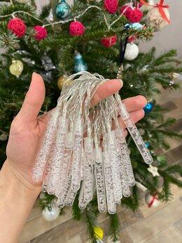 Новогодний декор и аксессуары - Гирлянда льдинки 2 метра новая, 0
