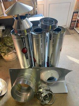 Дымоходы - Комплект дымохода сэндвич ф110/200 мм - 3 метра , 0