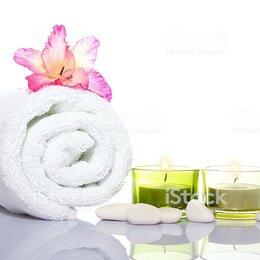 Полотенца - Полотенце белое банное махровое, 0