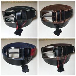 Ремни и пояса - Мужские чёрные кожаные ремни из телячьей кожи, 0