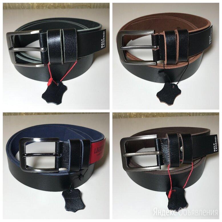 Мужские чёрные кожаные ремни из телячьей кожи по цене 1000₽ - Ремни и пояса, фото 0
