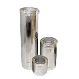 Дымоходы - Труба двустенная DTH D130 L500 с изол.50мм,…, 0