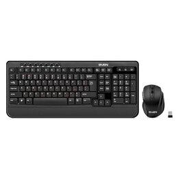 Комплекты клавиатур и мышей - Беспроводные клавиатура+мышь Sven Comfort 3500, 0