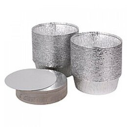 Крышки и колпаки - Крышка крафт-алюминий круглая – 200 мм, 0