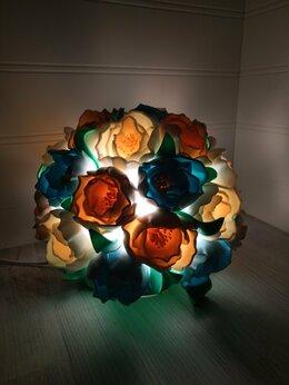 Интерьерная подсветка - Букет пионов светильник , 0