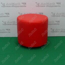 Пуфики - БАНКЕТКА ЦИЛИНДР H=370ММ, D=400ММ, ЦВЕТ КРАСНЫЙ,…, 0