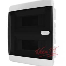 Электрические щиты и комплектующие - Бокс ЩРВ-П 18 IP41 прозрачная черная дверца Tekfor, 0