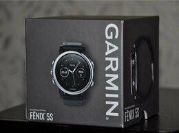 Умные часы и браслеты - Garmin Fenix 5S Silver / Black (новые), 0