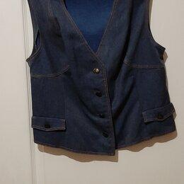 Жилеты - Винтажная женская жилетка из джинсы, размер 48-50, 0
