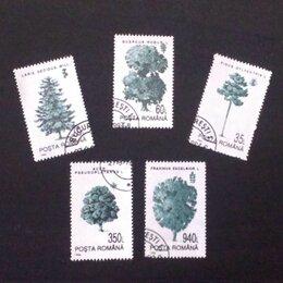 """Марки - Почтовые марки серии """"Деревья"""", Румыния, 1994 г., 0"""