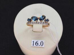 Кольца и перстни - Золотое кольцо с Лондон - Топазами, размер 16,0, 0