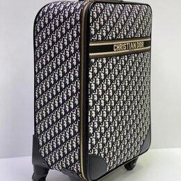 Чемоданы - Новый чемодан Christian Dior на колесах жаккард, 0