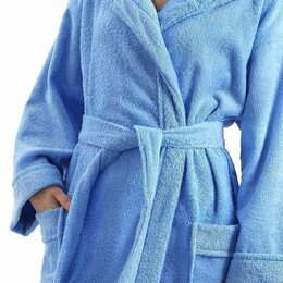 Домашняя одежда - Халат женский махровый, шалька ЭЛИТ Ярко-голубой…, 0
