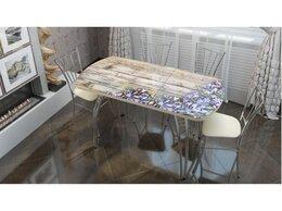 """Столы и столики - Стол раздвижной со стеклом """"Колокольчики"""", 0"""