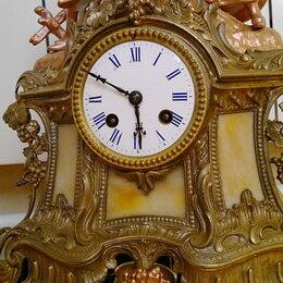 Интерьер - каминные часы,Франция,19 век, 0