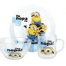 """Сервизы и наборы - Набор детской посуды""""Миньоны бананы"""", 0"""