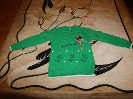 Рубашки и блузы - Блуза зеленая с вышивкой для девочки рост 142-146, 0