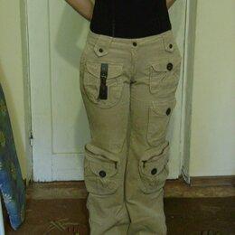 Брюки - Вельветовые женские джинсы с карманами, 0