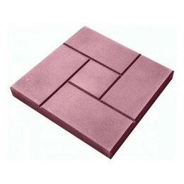Тротуарная плитка, бордюр - Тротуарная плитка 300*300*30 калифорния гладкая красная, 0