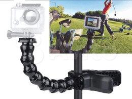 Аксессуары для экшн-камер - Прищепка Челюсти + Гусиная Шея на экшн-cam GoPro, 0