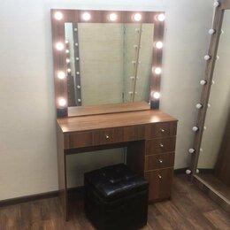 Столы и столики - Столик для макияжа с зеркалом и подсветкой цвет…, 0