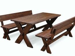 Комплекты садовой мебели - Комплект Ирбея №10 L-160 со скамьями, 0