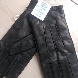 Перчатки и варежки - Перчатки кожаные новые мужские, 0