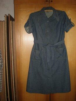 Платья - Джинсовое платье. Винтаж, 0