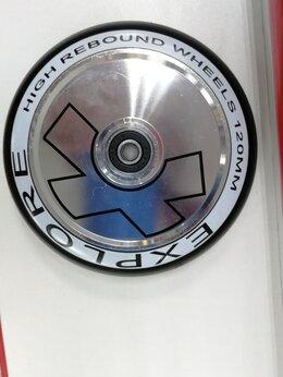 Самокаты - Колеса для трюкового самоката алюм. хром 110мм, 0