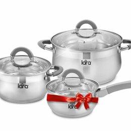 Наборы посуды для готовки - Набор кастрюль 6 пр. (2,6-2.7*4.7 л.) + сотейник, 0