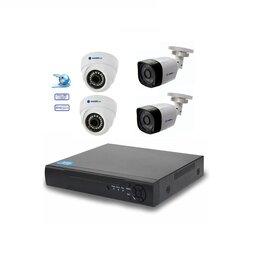 Готовые комплекты - Комплект видеонаблюдения на 4камеры FHD1920*1080р, 0