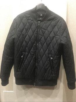 Куртки - Куртка H&M чёрная б/у, 0