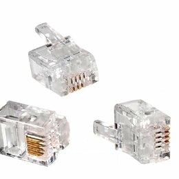 Аксессуары для сетевого оборудования - Коннектор телефонный RJ11, 0