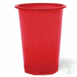 Мыльницы, стаканы и дозаторы - Стакан красный (0,2) А-25, в упак 100 шт, 0