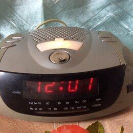 Часы настольные и каминные - электронные часы с приёмником, 0