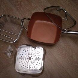 Сковороды и сотейники - Глубокая квадратная сковорода 24 см  , 0