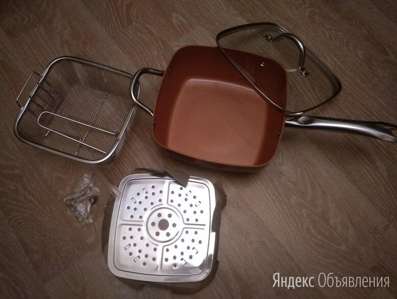 Глубокая квадратная сковорода 24 см   по цене 4900₽ - Сковороды и сотейники, фото 0