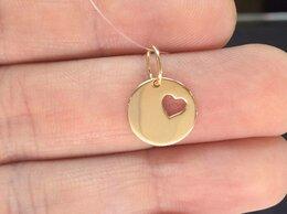 Кулоны и подвески - Золотая подвеска - Сердца без камней, проба 585, 0