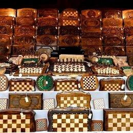 Настольные игры - нарды шахматы резные, 0