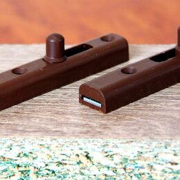 Замки и комплектующие - Шпингалет мебельный (задвижка механическая), 0