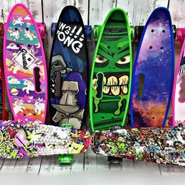 Скейтборды и лонгборды - Пениборд (лонгборд, пенни борд, скейтборд) bora, 0